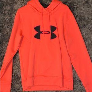 Under Armour Orange Logo Hoodie